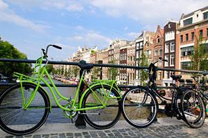 Amsterdam bike sul ponte