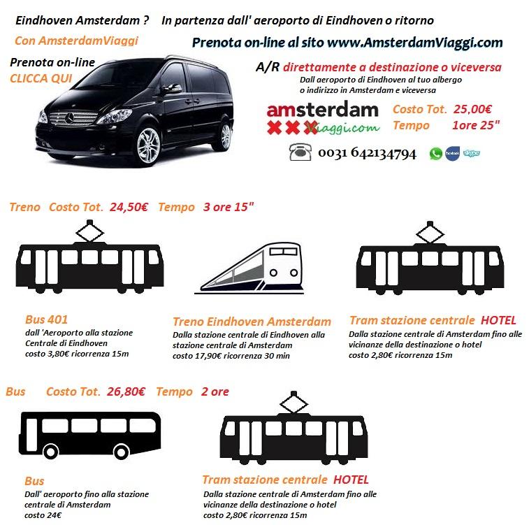 dall'aeroporto di eindhoven ad amsterdam